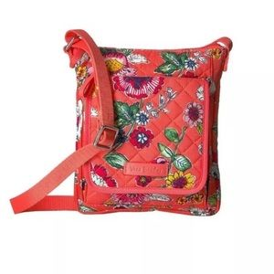 Vera Bradley Iconic RFID Mini Hipster Coral Floral